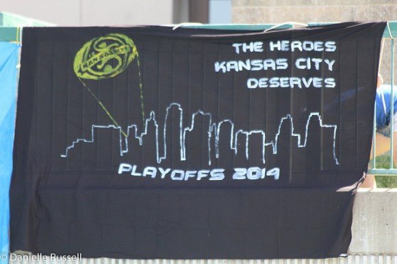 Our banner for the semifinal game against the Portland Thorns