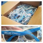 The first if the Blue Crew Membership Package merchandise to arrive