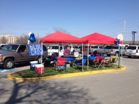 Our very first tailgate at the inaugural NWSL game.