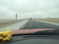 Things started getting a little dicy with the road conditions quickly deteriorating the closer we got to Kansas City.