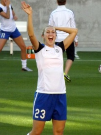 Nikki Phillips reaction to seeing the Blue Crew with the Polish flag down at the game in Houston on May 3rd.