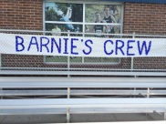 Blue Crew was Barnie's Crew for the Reign game.